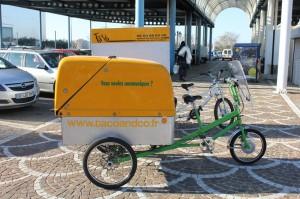 Livraison dans Arles en vélo cargo