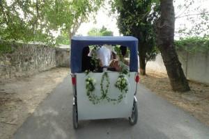 Décoration florale pour mariage à Fontvieille.