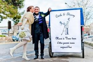 Affiche mariage à Arles: Félicitations à Cécile et Thierry!!!