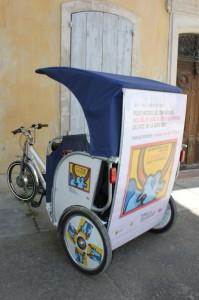 Affichage full-covering sur un vélo-taco