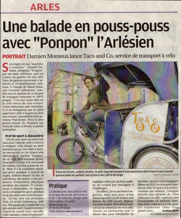 Article dans la provence du 13 mars 2010