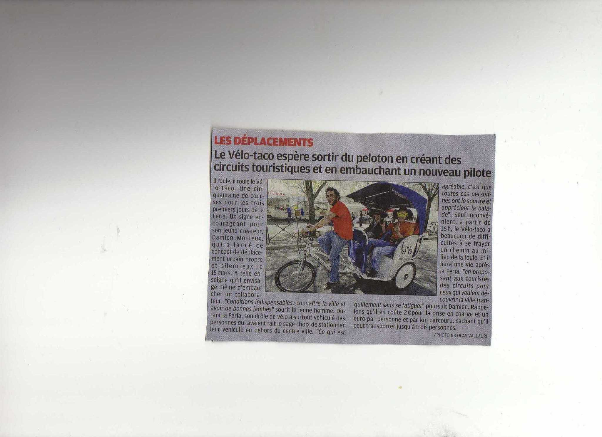 Article dans « La Provence » du 06 Avril 2010