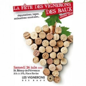 Fête des vignerons des Baux à Saint-Remy de provence le samedi 26 juin