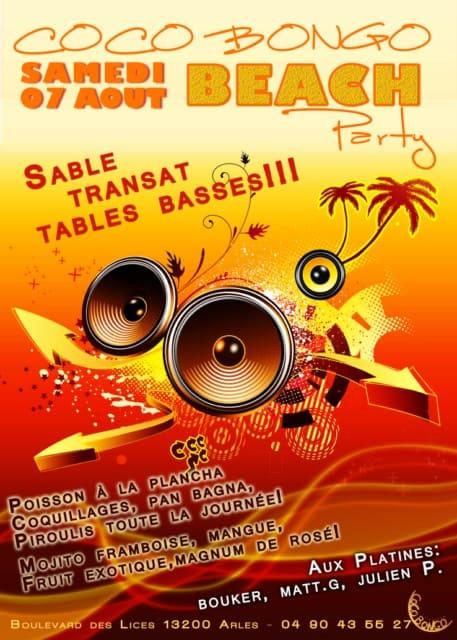 Coco Bongo Beach Party le 07 Août à Arles