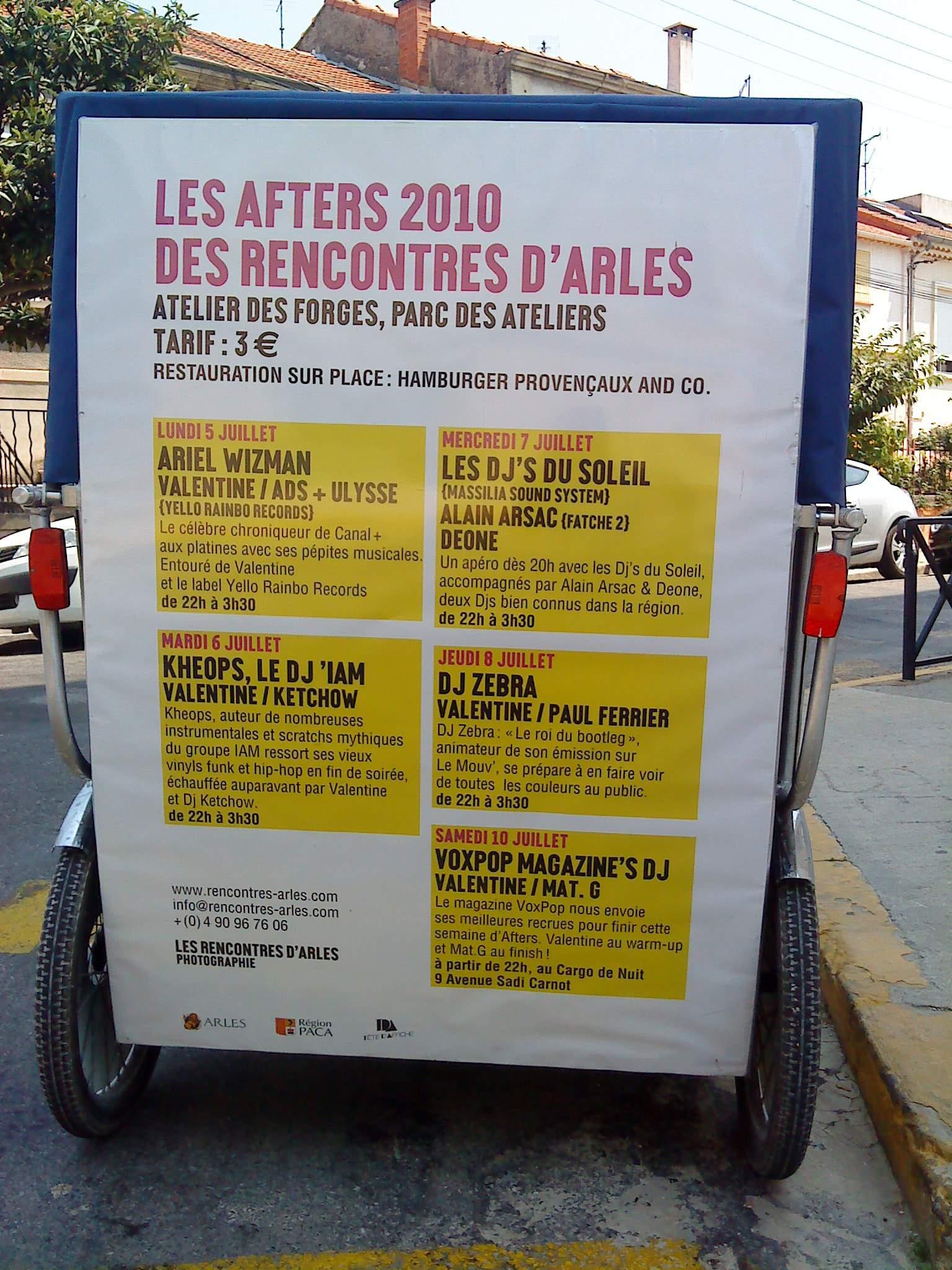 Publicité sur Arles: Partenariat avec l'association à 2 balles