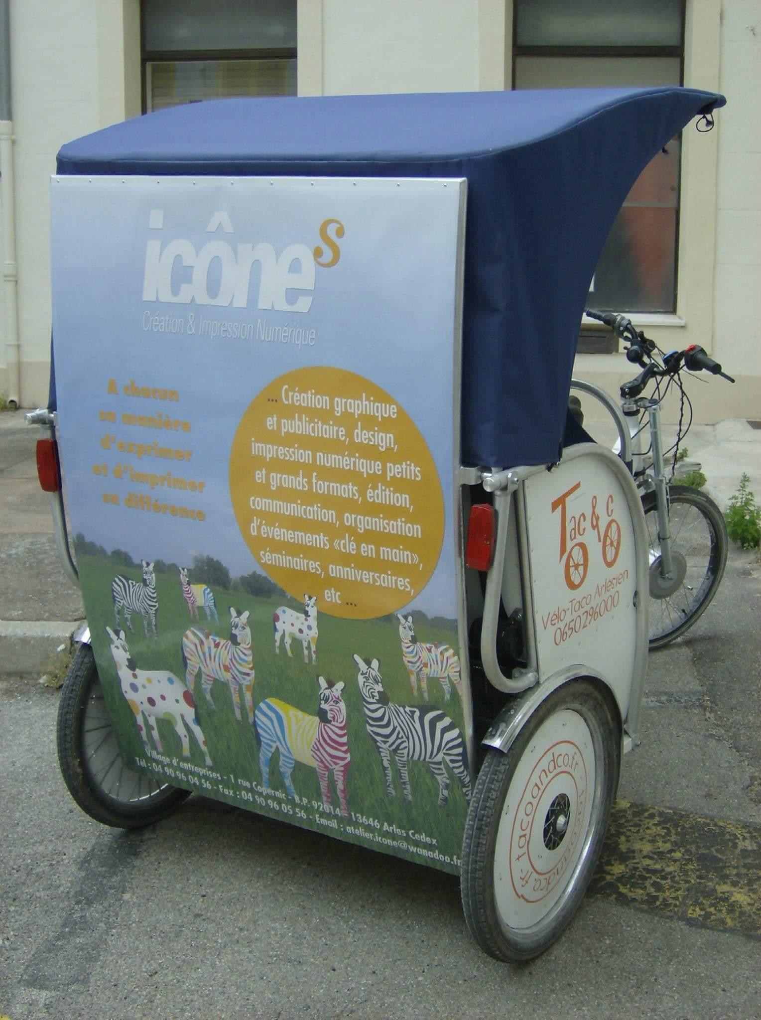 Publicité à Arles: Partenariat avec Icones