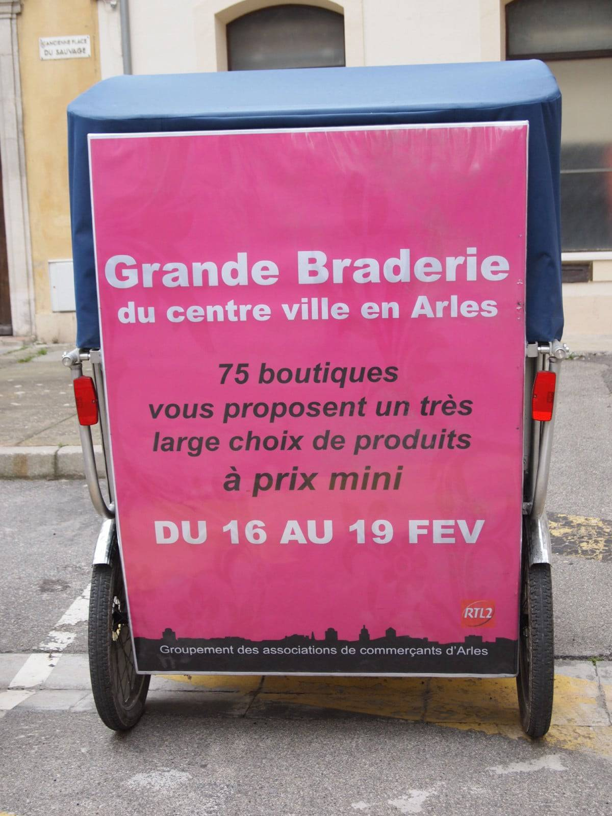 Grande braderie des commerçants à Arles du 16 au 19 Février 2011
