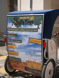 Publicité à Arles:le Wallabeer choisit Taco and Co