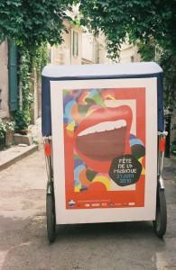 Publicité à Arles:Taco and Co annonce la fête de la musique 2010 à Arles