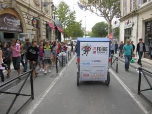 La Safim-parc Chanot a choisit une communication originale  sur Arles pour la Foire de Marseille 2010