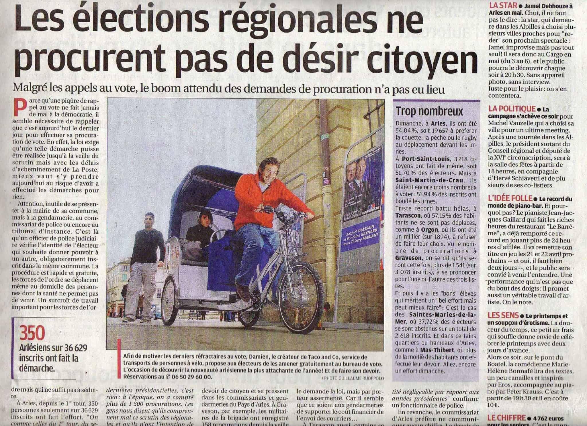 Article dans «la Provence» du 20 Mars 2010