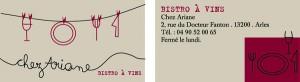 Bistrot Chez Ariane à Arles