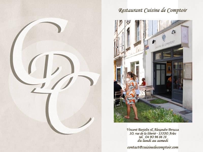Restaurant original sur Arles: La cuisine de comptoir