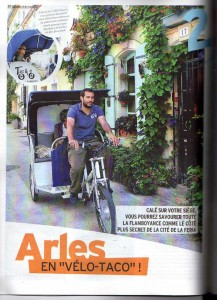 Visite d'Arles en vélo-taco