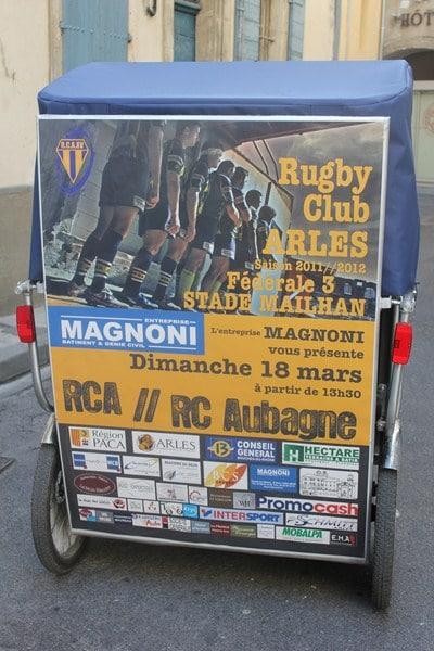 Magnoni et Taco and Co vous invitent à soutenir le R.C.Arlesien, le 18 Mars au Stade Mailhan..