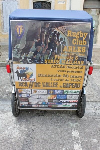 Atlas sécurité et Taco and Co vous invitent à encourager le Rugby club Arlésien le 25 Mars 2012.