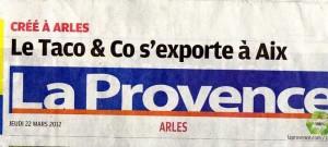 Taco and Co s'exporte à Aix