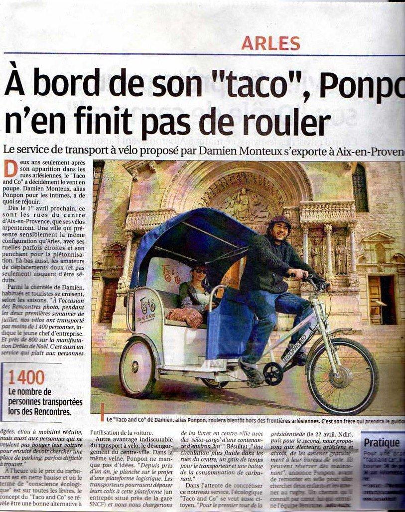 La Provence du 22 Mars 2012 : Nouvelle parution presse pour Taco and Co