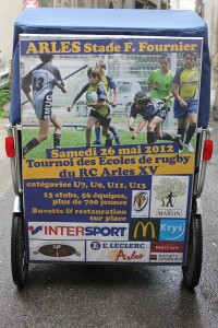 Tournoi des écoles de Rugby, le 26 Mai 2012 au stade Fournier d'Arles.
