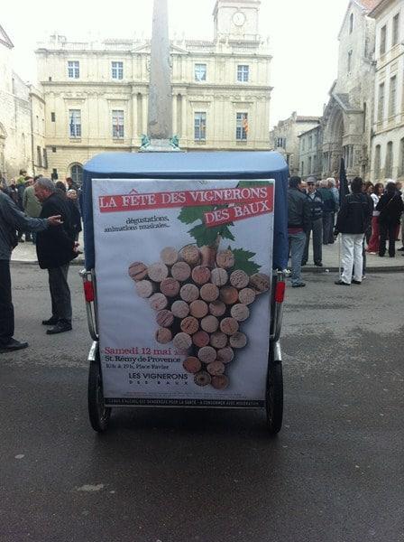 Bientôt la fête des vignerons des Baux à Saint Rémy de Provence.