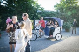 Arrivée des invités en vélo-taco