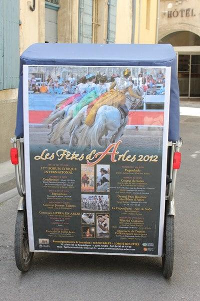 Le programme des festivités d'Arles en 2012.