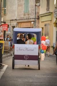 Mariage à vélo sur Arles