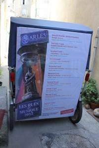 Les Rues en Musique d'Arles jusqu'au 18 Août 2012.