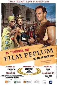 Festival du film Péplum du 20 au 24 Août 2012 au théâtre d'Antique d'Arles.