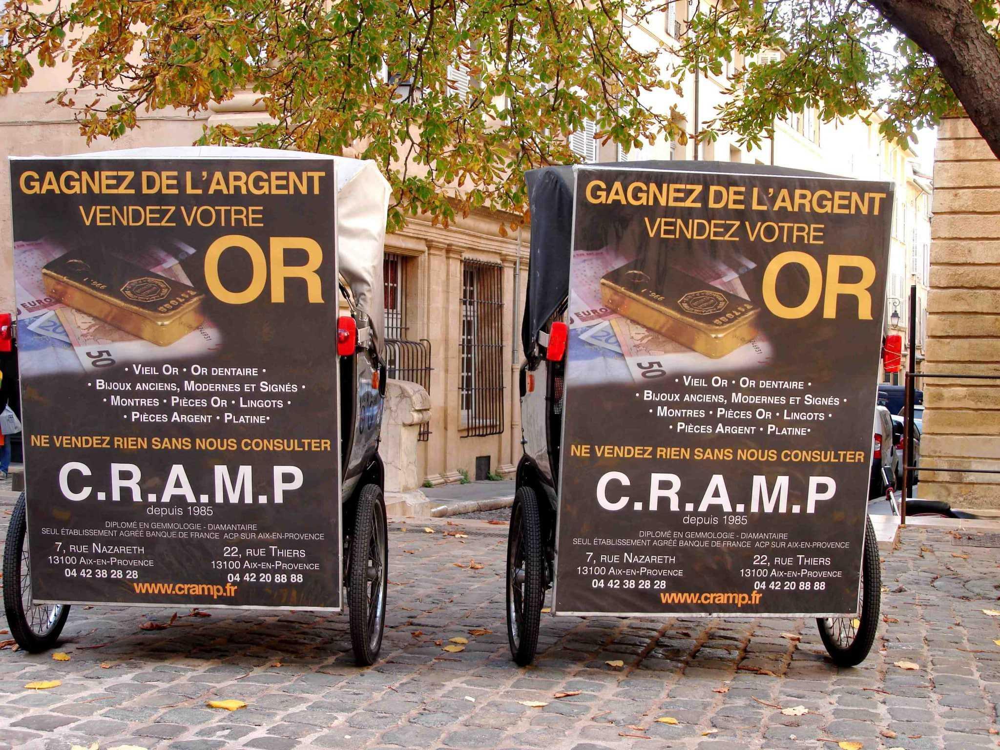 Gagnez de l'argent, vendez votre or avec CRAMP à Aix en Provence