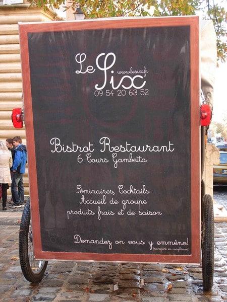 Bistrot/Restaurant Le six à Aix en Provence