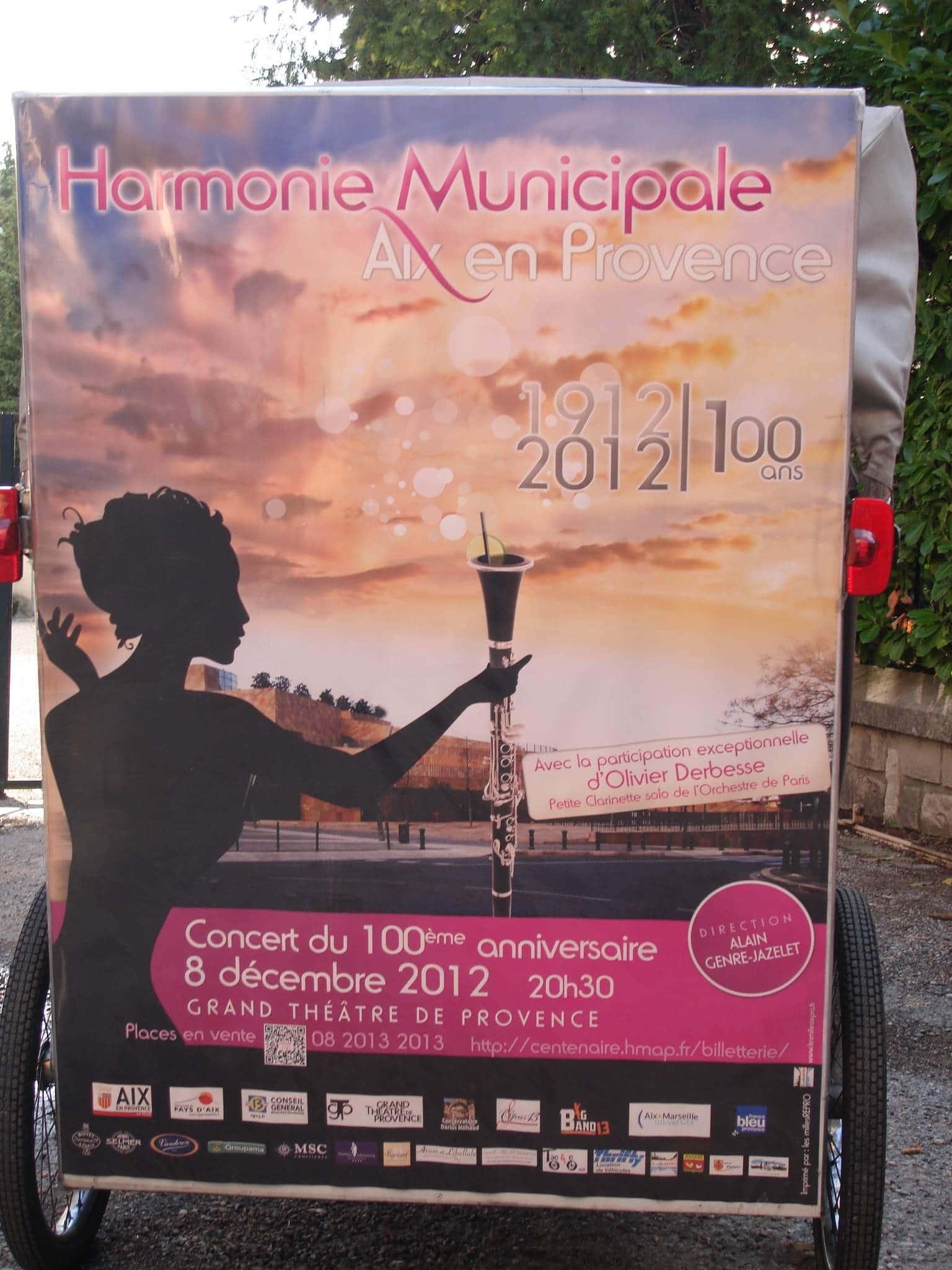 Les 100 ans d'Harmonie Municipale le 8 décembre, Grand Théâtre de Provence