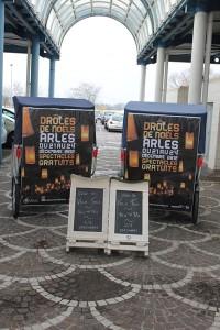 Drôles de vélo taco pour drôles de Noëls 2012 à Arles