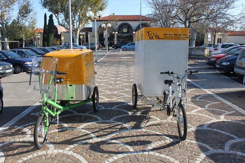 Vélo cargo pour livraison éco-logique dans Arles
