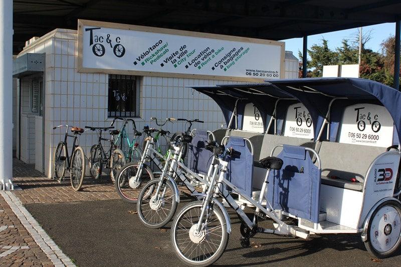 Location de vélos et consigne à bagages chez Taco and Co en gare d'Arles.