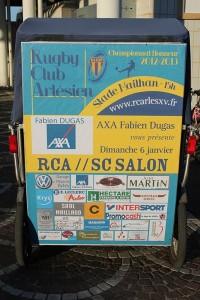 Axa Fabien Dugas vous invite au match RCA/Salon le 6 janvier 2013 au stade Mailhan d'Arles.