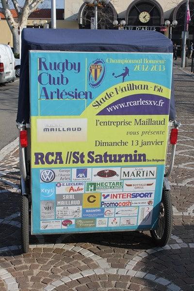 L'entreprise Maillaud vous invite au match RCA/St Saturnin au stade Mailhan d'Arles, dimanche 13 Janvier 2013