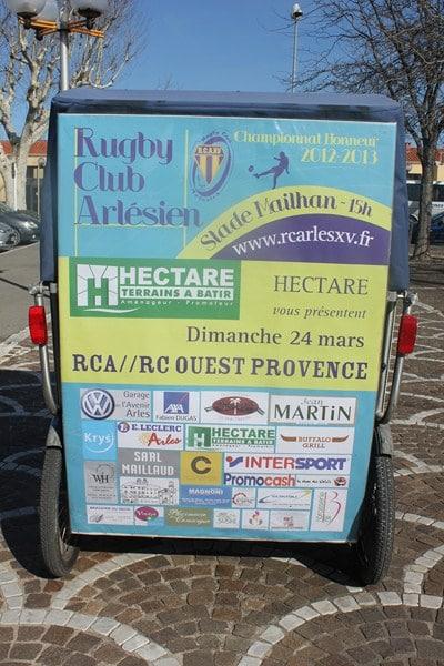 RCA/Ouest Provence au stade Mailhan d'Arles le 24 Mars 2013