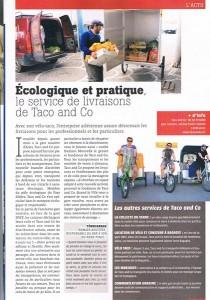 Taco and Co dans la revue Arles Info du mois de Mai 2013