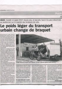 Parution presse dans la Marseillaise du 19 Avril 2013.