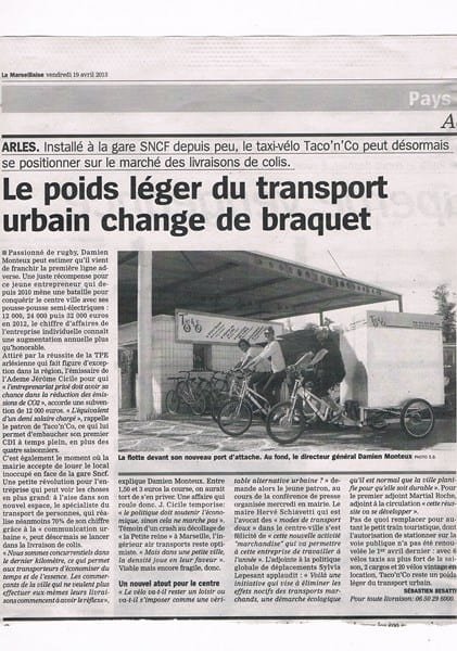 La Marseillaise du 19 Avril 2013