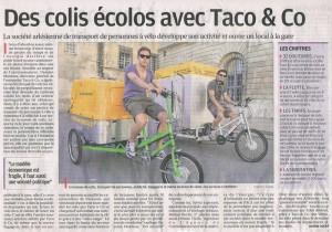 Parution presse: Taco and Co dans La Provence du 18 Avril 2013