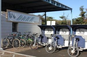 Location de vélos et consigne à bagages à la gare SNCF d'Arles.