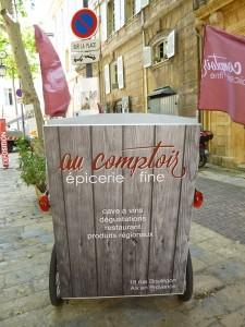Au comptoir, épicerie fine à Aix en Provence, 18 rue Boulegon.
