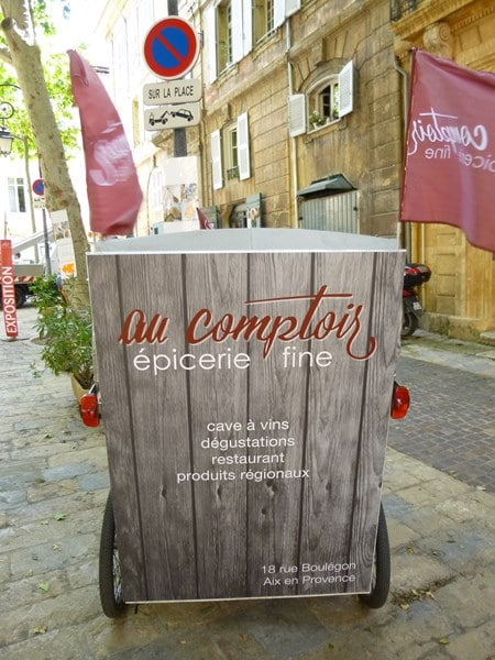 Ouverture de l'épicerie fine, Au Comptoir, 18 rue boulegon sur Aix en Provence.