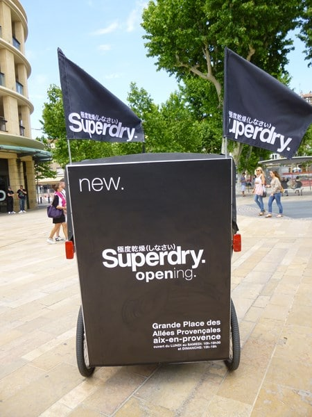 Superdry store à Aix en Provence:Transport gratuit vers votre magasin Superdry avec Taco and Co