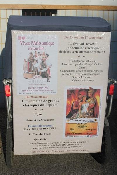 Festival Arelate, journées romaines d'Arles du 25 Août au 1er septembre 2013