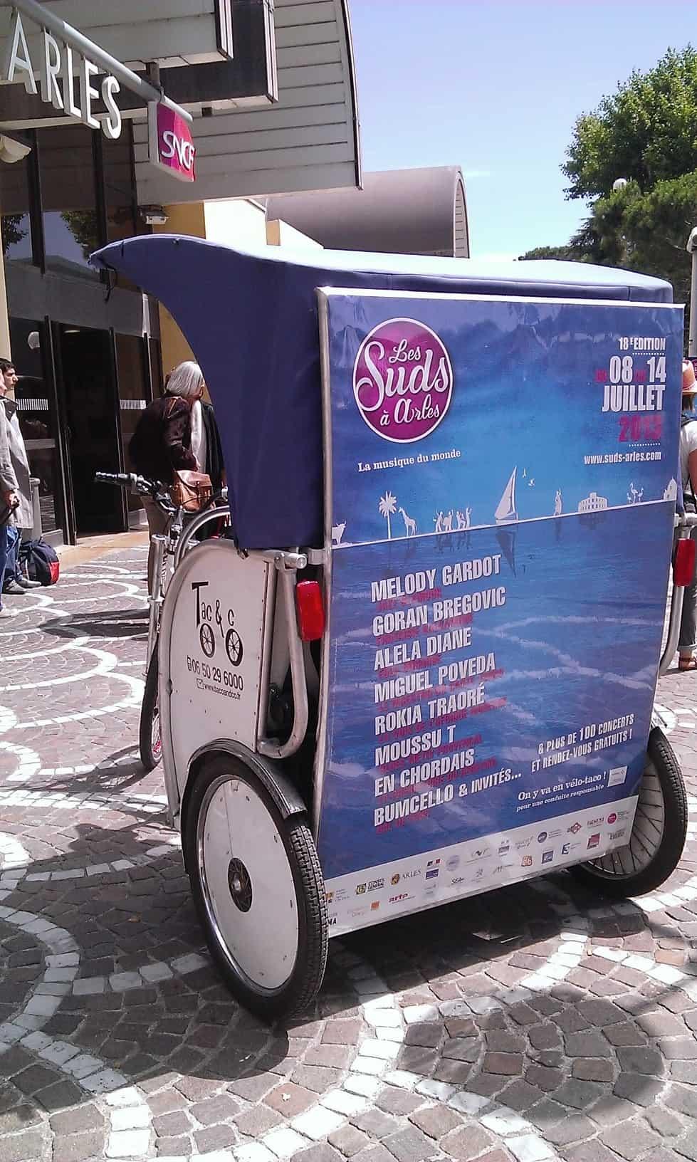 Réservez votre vélo taco pour votre arrivée à la gare sncf d'Arles