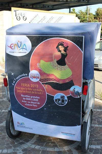 Féria du riz 2013 à Arles, Envia vous transporte gratuitement