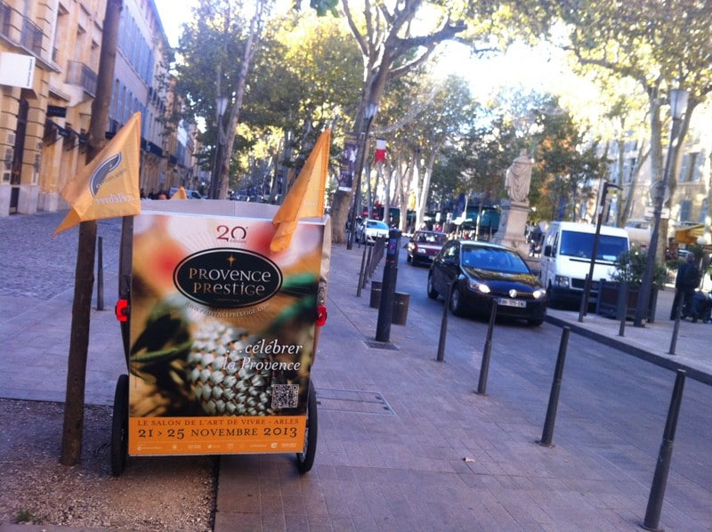 Campagne de communication écologique pour Provence Prestige 2013 à Aix en Provence
